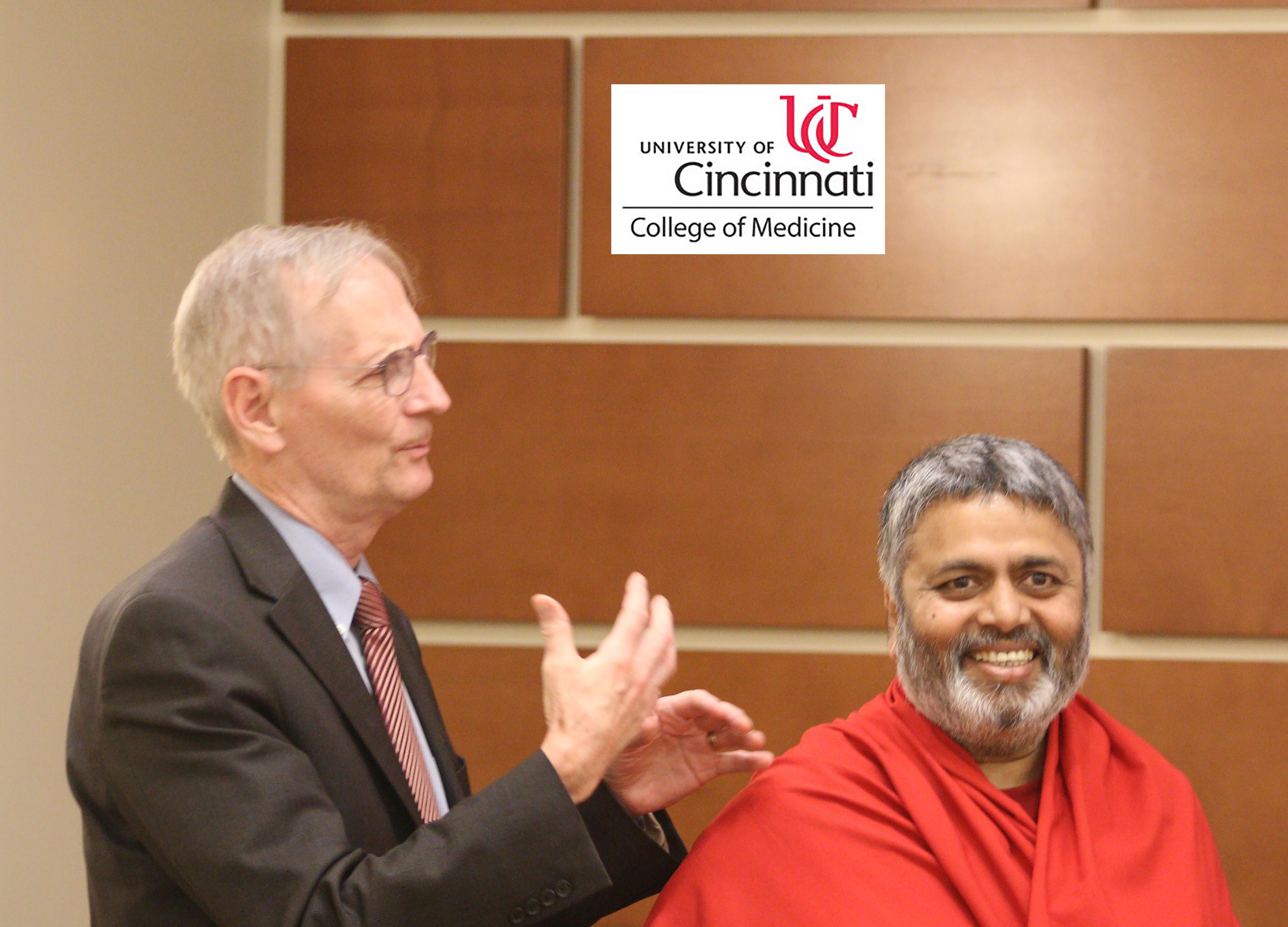 Dr. Richard P. Lofgren, MD, MPH, FACP President and CEO, UC Health with Dr. Shivanand